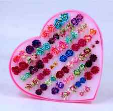 36 Pairs  rose and flower  Earring Stud Wholesale Pack Lot For girl friend Gift