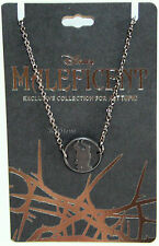 Necklace Black Hot Topic Promo New Disney Maleficent Silhouette Cameo Medallion