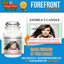 Personalised Photo Candle sticker, Perfect bday/graduation gift