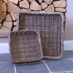 Maison Rattan Korb Tablett Rattantablet Deko Landhaus Küche Shabby Chic Natur