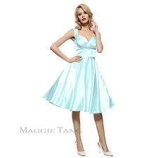 Maggie Tang 50s VTG Hepburn Rockabilly Bridesmaid Business Swing Dress R-562