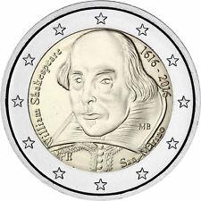 San Marino 2 Euro 2016 William Shakespeare Gedenkmünze Stempelglanz im Folder