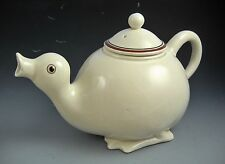 FITZ AND FLOYD Tea Pot Two Cup Collectible Whimsical Duck 1970's