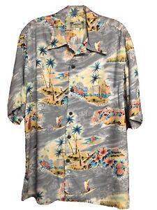 Kamehameha Hawaiian Shirt Rayon sz.L