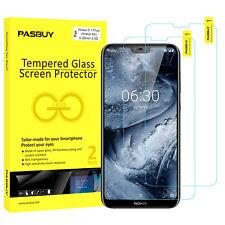 PASBUY 2Pack Premium Tempered Glass Screen Protect for Nokia 6.1 Plus(Nokia X6)