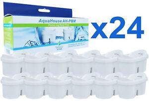 24 Jug Water Filter Cartridges Compatible with Brita Maxtra & Bosch Tassimo