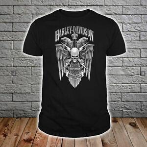 Harley Davidson Men's US T-Shirt Black Hot Gift Size S to 5XL