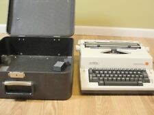 Olympic Report Portable Electric SKE-A81 Typewriter & Hard Case Western Germany