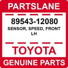 89543-12080 Toyota OEM Genuine SENSOR, SPEED, FRONT LH