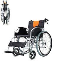 LIGERA Sedia a rotelle in alluminio ad autospinta pieghevole carrozzina per x