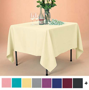 """5 Square Tablecloths 60""""x60"""" Inch Polyester Overlay Banquet Party 23 COLORS USA"""