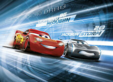 254x183cm Red Wall mural wallpaper for chlildrens bedroom decor Cars3 Disney