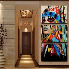 HD Canvas Print Art Home Decor Painting Wall Art The American Indian Feathered