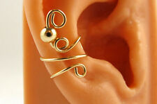Earcuff Cartilage Earring 14k Gold Filled Round Bead