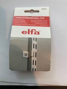 Elfa WALL HANG STANDARD CLIPS 2-Pieces Simple Installation METAL 470768