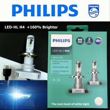 Genuine PHILIPS #11342ULX2 LED-HL H4 6000K +160% Brighter Light Bulb x 2 #gtc