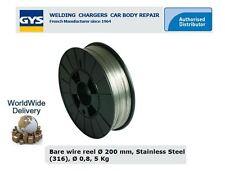 GYS MIG MAG WIRE STAINLESS STEEL 0.8MM-200MM 5KG ER316LSi MIG FILLER METAL WELD