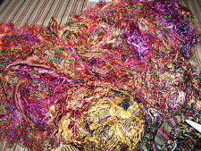 Multi Colours of Silk Selvedge for Weaving, Knitting or  Craft