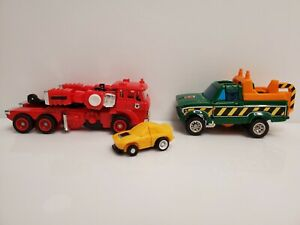 Vintage Hasbro Transformers G1 Inferno Hoist Porsche FX-1 Figure Vehicles Lot