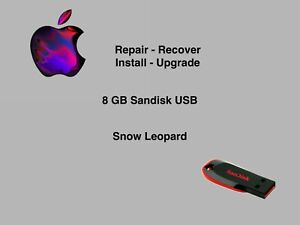 👀🔥Mac OS X Snow Leopard 10.6.8 Bootable USB Flash Drive Installer