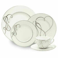 Mikasa Love Story Porcelain Dinnerware Plates Dishes 5 Piece, Setting for 1