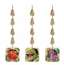 3 Dino Blast Hanging Cutouts Dinosaurs Boys Birthday Party Decoration Supplies