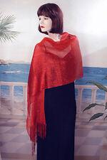 Long Shawl Wrap Scarf Hijab Metallic Threads Sparkle Glitter Look Soft - W325
