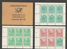 Germany DDR 2DM Complete Booklet Sc 330c 333a 477b MNH UMM