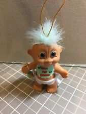 """Russ 3"""" Baby's First Christmas Troll Ornament From The 1980's"""