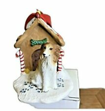 Borzoi Christmas Ornament Gingerbread Dog House Ornament New
