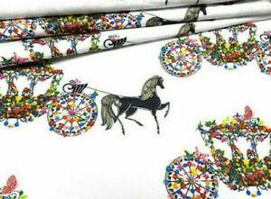 Pferdekutsche  Kutsche Design Baumwolle Stoff Patchwork Kissen 50 cm x160 Nähen