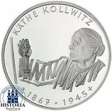 BRD 10 DM Käthe Kollwitz 1992 Silber Stempelglanz Münze in Münzkapsel