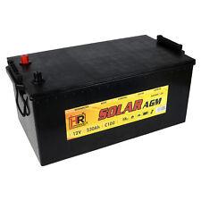 HR AGM Solarbatterie 12V 230Ah Wohnmobil Versorgung Boot Batterie 200 260Ah GEL