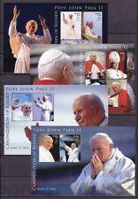 Tuvalu 2014 mié. 2025-32 KB, BL. 218-19 ** canonización pope el papa Pablo II.