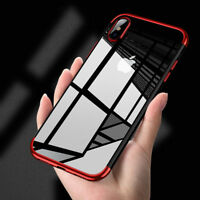 Luxury Slim Shockproof Silicone Clear Case Cover for iPhone 8 7 6 and Plus