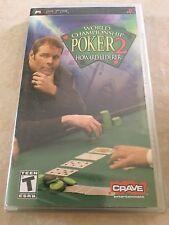 World Championship Poker 2 Featuring Howard Lederer (Sony PSP, 2005) PSP NEW
