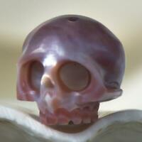 11.62 mm Human Skull Bead Carving Kasumi-like Freshwater Pearl 2.13 g drilled