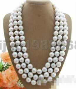 """11-12MM reborn keshi white baroque South Sea Pearl necklace 50"""""""