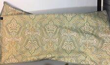 Laura Ashley Pillow Sham King Paisley  Green Pair
