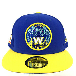 Golden State Warriors Hat City Series Patches New Era 59Fifty Cap Fitted 7 1/2