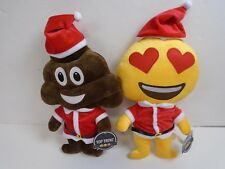 Top Trenz Santa Poop and Heart Eyes Smiley Emoji Pillows New