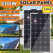 600W/300W Watt Flexible Camping Car Solar Panel Kit 18V Power RV Battery Charger