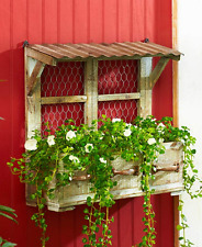 New listing Wall Hanging Planter Box Rustic Garden Country Home Decorations Storage Window F