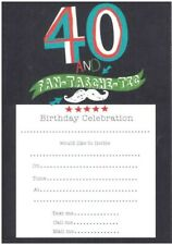20 Sheets and Envelopes 40th Birthday Party Invitations