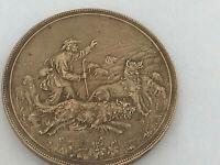 #1736# MÉDAILLE / CLUB ROUBAISIEN DU CHIEN DE DÉFENSE/ Roubaix/ signée Arthus