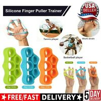 6 Pack Finger Hand Exerciser Strengthener Forearm Grip Trainer Resistance Bands