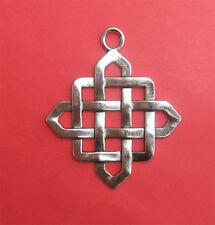 3 x Silver Coloured Chinese Knot Tibetan Style Pendant  -51.5 mm