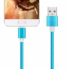 Cable de datos USB-C 3.1 tipo C Macho a USB 2.0 Cordon Color Azul