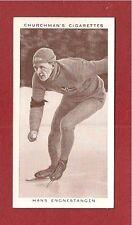 HANS ENGNESTANGEN Record Holder SPEED ICE SKATING 1938 original card