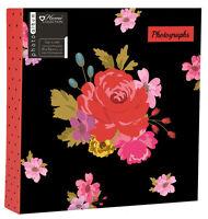 "Floral Rose Photo Album 200 4x6"" 104 5x7"" 80 4x6"" Photos or Self Adhesive"